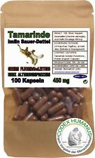 100 Kapseln 450 mg Tamarinde Sauerdattel FLUOR AUSLEITUNG ZELLEN GEHIRN GEWEBE