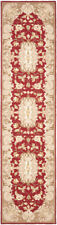 Safavieh Hand Hooked RUST / SAGE Carpet Runner 2'-6 x 8'