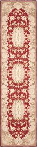 Safavieh Hand Hooked RUST / SAGE Carpet Runner 2'-6 x 8'
