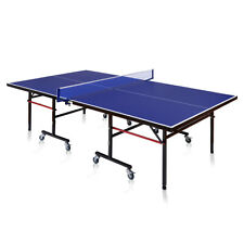 Foldable Competition-Ready Table Tennis Table Removable with Net Easy Storage
