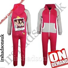 "Kids Girls One direction ""I LOVE YOU XX"" Print All In One PJ'S Jumpsuit Onesie"