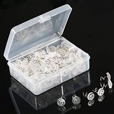 40Pieces Upholstery Clear Heads Twist Pins Plastic Slipcovers Bedskirts Pin Set