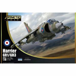 Kinetic 48060 BAe Harrier GR.1/3 1:48 Plastic Model Aircraft Kit