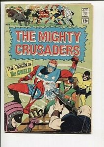 MIGHTY CRUSADERS 1 GD+  ORIGIN OF SHIELD 1965