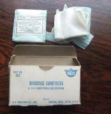Vtg A.E.Halperin Co. Inc. Boston Mass Halco Bandage Compress Dressing box/conten