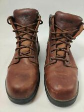 Wolverine Mens Work Safety Boots Brown Leather Lace Up Steel Toe 11 Ew
