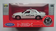 WELLY 1999 FORD CROWN VICTORIA POLICE 1:34 DIE CAST METAL MODEL NEW IN BOX