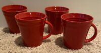 "Rachael Ray DOUBLE RIDGE RED 4 1/4"" Mugs Set of 4"
