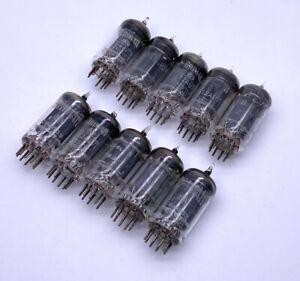 Lot of 10 x Brimar ECC82 12AU7 CV4003 6067 Long Plate Halo Getter Valves Tubes