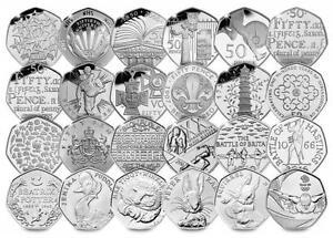 50p pence Coins Commemorative's Flopsy Suffragette Newton NHS Beatrix Potter Kew