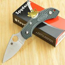 Spyderco Dragonfly 2 ZDP-189 Plain Edge Forest Green FRN Knife C28PGRE2