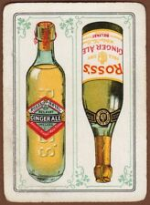 Playing Cards 1 Single Swap Card - Old Antique Wide ROSS'S GINGER ALE Bottles