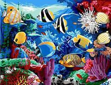 Margot De Paris Tapestry/needlepoint Canvas - Tropical Fish (aquarium)