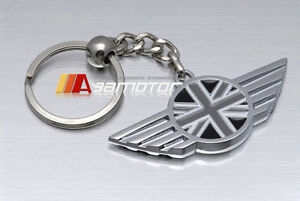 Union Jack in Black White British Flag Key Chain Keyring fit for BMW Mini Cooper