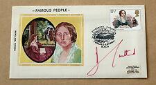 La gente famosa Elizabeth Gaskell 1980 Cubierta Firmado por autor Barbara Cartland