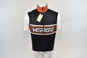 XS Men's Verge Elite Entropa Cycling Vest Black/Orange CLOSEOUT