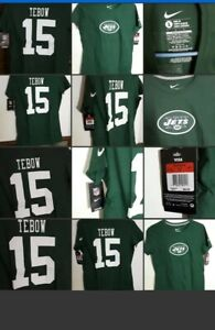 NIKE NY JETS TEBOW 15 WOMEN'S T-SHIRT GREEN Large or  X- LARGE - SLIM FIT