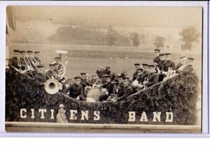 Real Photo Postcard RPPC - Music Musicians - Citizens Band