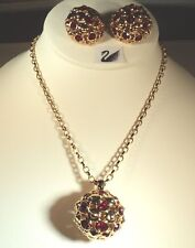 Signed Swarovski Necklace and Clip Earrings - NEW