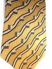 "Bill Blass Black Label Men's Silk Tie 58"" X 4"" Multi-Color Wavy British Stripes"