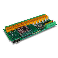 Internet/Ethernet 12 Channel Relay Module 16 A/D I/O Board - Web, TCP/IP, DAQ