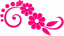 Pink Flower Daisy Vinyl Stickers Decals Car Window Van