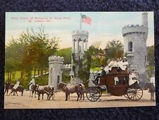 Early 1900's Pony Coach at Entrance to Krug Park in St. Joseph, Mo Missouri PC