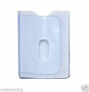 Replacement Clear Plastic 20 Credit Card Inserts Album Sleeves With Thumb Hole