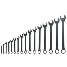 Raised Panel Combo Wrench Standard Black Oxide Corrosion Resistant SAE Tool Sets