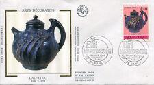 FRANCE FDC - 2857 2 ART NOUVEAU DALPAYRAT - NANCY 22 Janv 1994 - LUXE sur soie