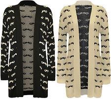 Langarm Damen-Strickjacken mit mittlerer Strickart aus Baumwolle