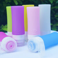 1X Reusable Silicone Travel Empty Bottles Shampoo Lotion Makeup Containe-Sale-
