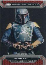 Star Wars ESB Black /& White Green Base Card #93 Boba Fett Reveals himself 99