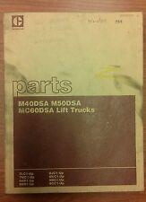 Caterpillar-CAT M40DSA, M50DSA, MC60DSA Lift Trucks Parts Manual