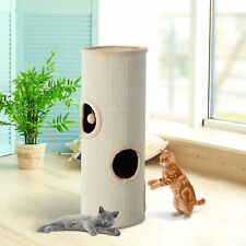 PawHut Kratztonne Spieltonne Kratzbaum Spielbaum Katzenbaum Katzenhöhle Katzen