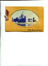 Vintage Christmas Card from Bombay India showing Victoria Memorial in Calcutta