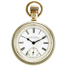 Waltham Pocket Watch 7 Jewel Movement 18 Size Coin Silver Case CA1895