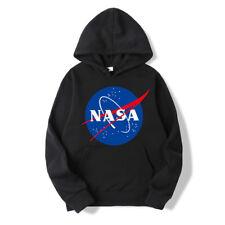 Mens Womens NASA Retro Hoodie Pullover Long Sleeve Tops Sweater Sweater Tops US