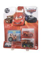 Disney Pixar Mini Racers 2021 Tractor Lightning McQueen Mater 3 Pack