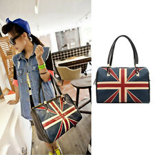 New Womens UK Britain Flag Union Jack Shoulder Satchel CrossBody Messenger bag