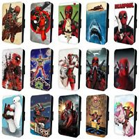 Deadpool Marvel Comic Superheroes Avengers  Flip WALLET PHONE CASE COVER IPHONE