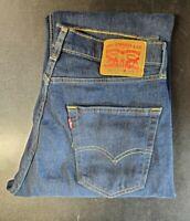 New Levis 505 Denim Jeans Dark Blue Red Tab 5 Pocket Straight Fit 32x30