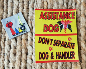 NEW assistance dog  / WOVEN Service Dog  iron on patch