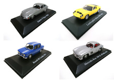 Lot 4 voitures sportives 1950-1960 Jaguar Lamborghini 1/43 Atlas model car
