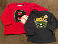 Boys Baseball Top LOT of 2 Shirts THE CHILDREN'S PLACE 6-9 Months Long Sleeve