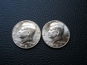 """Key"" 1987-P&D Kennedy Half Dollar Set (BU)"