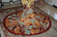 Super Cute CATHERINE MALANDRINO Corset-Look Spaghetti Strap FULL Fall Dress 6