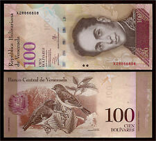 World Paper Money  Venezuela 100 Bolivares 2013 Series X8 @ Crisp UNC