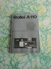 Vintage Rollei A110 Camera Instruction Booklet