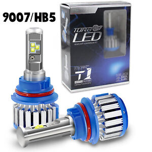 2x 9007 HB5 CREE LED Headlight Bulbs Dual High/Low Beam Conversion Kit 70W 6000K